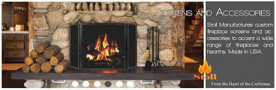 Free Standing Fireplace Screens by Stoll Fireplace Inc Custom Glass Fireplace Doors Heating