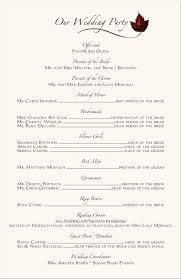 wedding program format wedding program sles program format