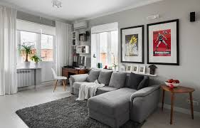 gray walls white curtains modern decorate apartment with white curtains on the grey wall with