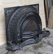 polished cast and wrought iron victorian fireplace steampunk look