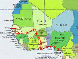 Western Africa Map by Huihan In West Africa Travel Diary From Senegal To Nigeria
