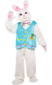 rabbit costume deluxe white bunny rabbit mascot costume party city