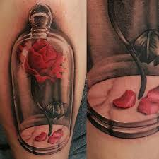 pen tattoo last rose from beauty and the beast tattoo com