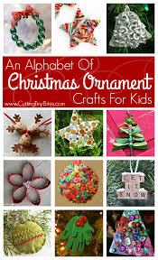 an alphabet of christmas ornament crafts for kids yarns for