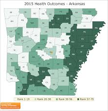 University Of Arkansas Map Arkansas Rankings Data County Health Rankings U0026 Roadmaps