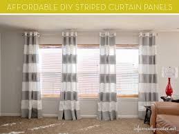 Diy Cheap Curtains Make It Stylish Diy Striped Curtain Panels Curbly