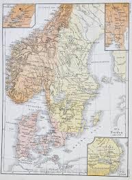 Scandinavia Map Map Of Scandinavia In 1319 1876