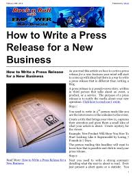new business press release sample press release writers