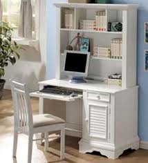 White Computer Desk With Hutch Furniture Louvered Shutter Design Collection Computer Desk With