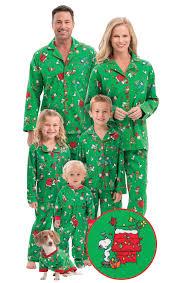 brown matching family pajamas