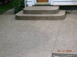 Exposed Aggregate Patio Pictures by Extreme Concrete Concrete Patio Projects
