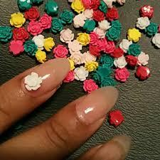 aliexpress com buy 6mm nailart 3d nail charms rose flowers 3d