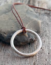 silver solid circle necklace images Artisan hammered sterling silver circle pendant spiral river jewelry jpg