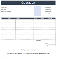 general quotation template free estimate and quote templates