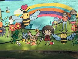 controversial bee mural in oakhurst vandalized again this is the second time this year someone has spray painted on the mural on the outside wall of a building that houses the oakhurst market and one step at a