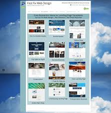 free online home page design free elementor templates fast fix web design