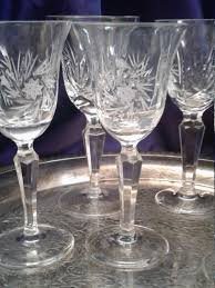 lenox navarre champagne coupe floral etched crystal optic