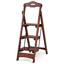 amazon com cosco three step rockford wood step stool mahogany