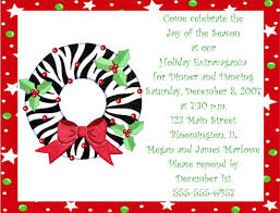Free Christmas Party Invitation Wording - simple christmas card invitation wording 58 for free printable