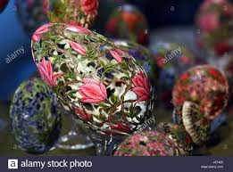 decorated goose eggs zons germany 15th apr 2017 ornately decorated goose eggs by the