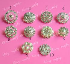 hair bow center free shippig mix style rhinestone button embellishment with shank