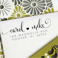 personalized housewarming gifts love heart personalized custom return address stamp wedding