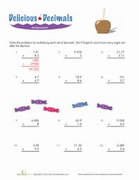understanding decimals 5th grade worksheets education com