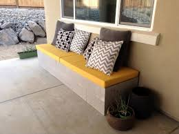 livingroom bench hello daly mini patio project cinder block bench