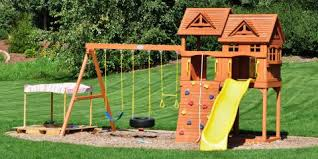 Backyard Play Systems by 3 Benefits Of Installing A Wooden Play Set In Your Yard Rainbow