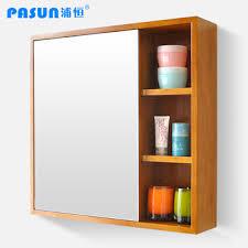 Oak Bathroom Mirrors - buy free shipping solid wood oak pasun bathroom mirror cabinet