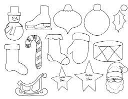 ornament cut out template ornaments color