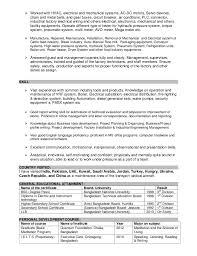Mechanical Resume Format Pdf Maintenance Engineer Job Description Wondrous Ideas Building