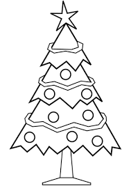 simple christmas tree coloring free printable coloring pages
