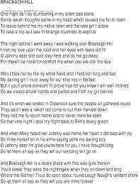 Comfort Me Lyrics Irish Music Song And Ballad Lyrics For Brackagh Hill