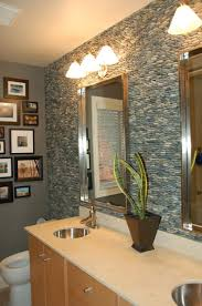 Bathroom Countertop Storage Ideas Stone Bathroom Countertops Vanity Mosaic Tile Square Mirror On