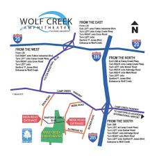 Atlanta Airport Parking Map by Map U0026 Directions Wolf Creek Amphitheater