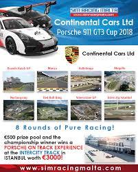 porsche 911 poster continental cars ltd porsche 911 gt3 cup 2018 sim racing malta