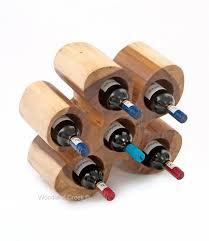 wooden wine bottle rack natural wine holder counter top wine holder