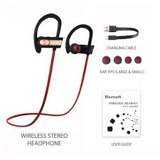 te rich wireless bluetooth 4 1 sport headphones hands free