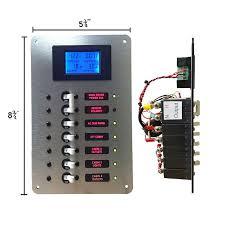 ac main circuit breaker panel with digital ac voltmeter u2013 ac dc