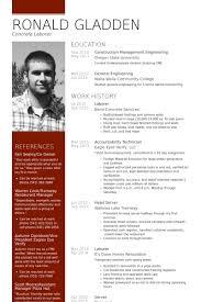 labor resume samples visualcv resume samples database