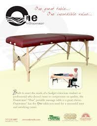 oakworks portable massage table one by oakworks oakworks pdf catalogues documentation brochures