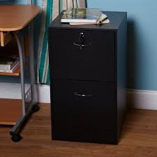 wilson 2 drawer vertical wood lockable file cabinet black