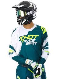 kids motocross jersey shot teal blue neon yellow 2017 contact claw mx jersey shot