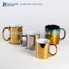 Coffee Mugs Wholesale Bulk Lighted Surface Mugs Customized Logo Royal Gold Silver Coffee