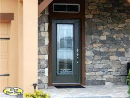Exterior Glass Door Inserts Beveled Glass Entry Doors Exterior Front With Regard To Designs 5