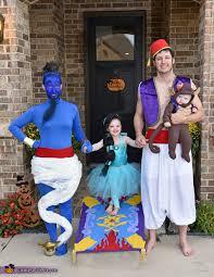 Alladin Halloween Costume Aladdin Family Costume Blue Leotard Genie Costume Safety Pins