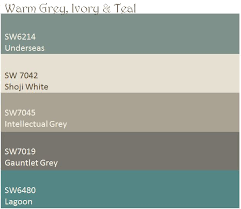 warm grey ivory u0026 teal color palette these are the paint colors