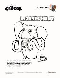 mousephant the croods coloring pages hellokids com