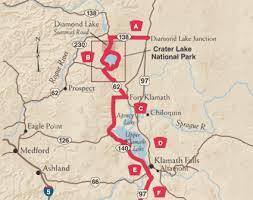 map of oregon near crater lake the volcanic legacy scenic byway tripcheck oregon traveler
